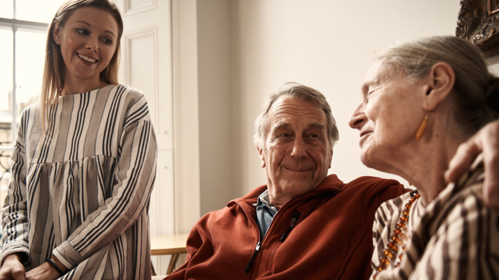 family smiling - what to expect at a guild living community