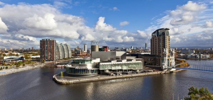Salford Quays today Nigel Wilson Forbes